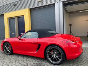 porsche 981 boxster s glascoating glanzdetail